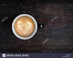 Latte Cat Art Stock Photos Images