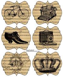 Vintage Scrapbook Designs Printable Stickers