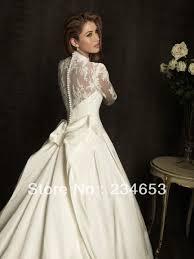 aliexpress com buy long sleeves lace taffeta ball gown wedding