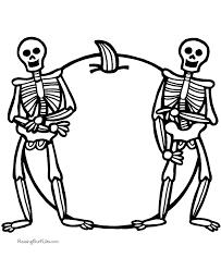 Free Halloween Skeleton Coloring Sheets