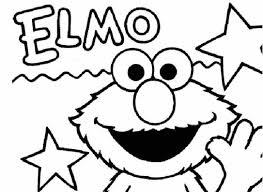 Stars Elmo Coloring Pages