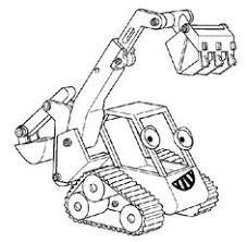 Muck The Bulldozer Coloring Pages
