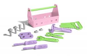 Green Toys Tool Set - Pink | Made Safe In The USA