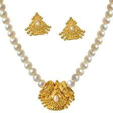 100 Pearl Design Buy Suratdiamond Temple Gold Plated Pendant Single