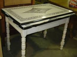 Steel Chairs For Kitchen Table Islands With Seating Antique Work Tables From Vintage Metal About Black And White Knobs