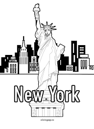 New York City Coloring Pages 92 For Online With