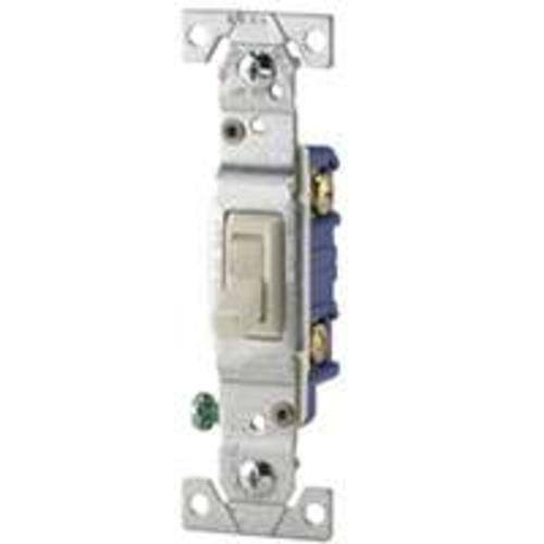 Cooper Wiring 1301-7V Single-Pole Grounding Toggle Switch, Ivory, 15 Amp
