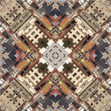 Download Kaleidoscope Square Texture Pattern Symmetry Background Abstract Wallpaper