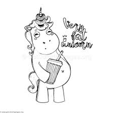 Very Fat Unicorn Coloring Pages