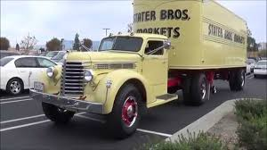 Stater Brothers 1947 Diamond T Truck With 1948 Trailer - YouTube