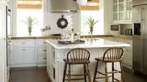 Cool Farmhouse Kitchen Cabinets Country Phoebe Howard Square Island With Seating