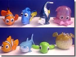 lot of 8 new mcdonalds finding nemo toys complete set nip 2003