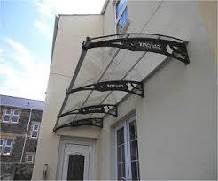patio door awnings uk diy polycarbonate cantilever door canopy 1500x 5000mm