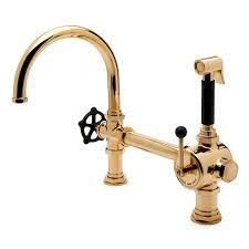 Barber Wilson Unlacquered Brass Faucet by Waterworks Regulator Gooseneck Single Spout Kitchen Faucet