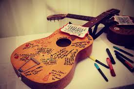 Guitar Wedding Guestbook Idea
