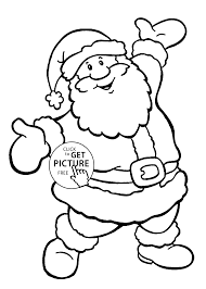 Happy Santa Coloring Pages For Kids Printable Free