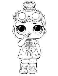 Sleepy Bones Doll Coloring Page To Print Lol Surprise Pages Dolls