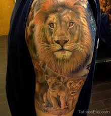 African Tattoos Animals Lion Shoulder