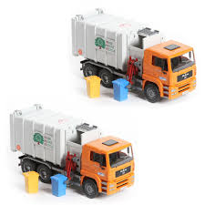 Bruder Toys MAN Side-Loading Garbage Truck With 2 Refuse Bins ...