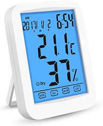 digitales thermometer hygrometer inne luftfeuchtigkeit temperatur min max für schlafzimmer büro