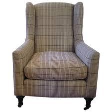 viyet designer furniture seating soleil plaid wingback chair