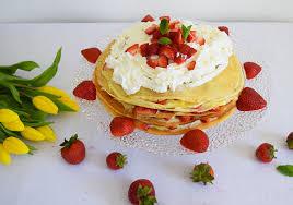 gâteau de crêpes aux fraises cupoftam