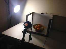 DIY food photography setup