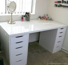 Ikea Hemnes Desk White by White Desk With Drawers On Both Sides Fogtofire