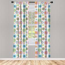 gardine fensterbehandlungen 2 panel set für wohnzimmer schlafzimmer dekor abakuhaus modern bunte muster kaufen otto