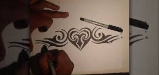 How To Draw A Tribal Heart Tattoo With Markers Graffiti Urban Art WonderHowTo