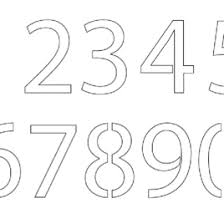 Coloring Pages Numbers 1 20 AZ