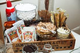 Hot Cocoa Bar Supplies From A My Little Cinnabun Rustic Glam Baby Shower Via
