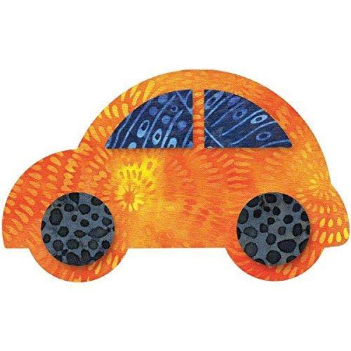"AccuQuilt 55354 GO! Fabric Cutting Dies - Cute Car, 5 1/2"" x 3 3/8"""