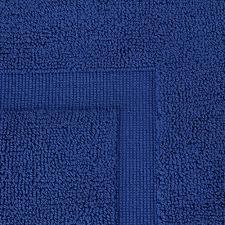 Royal Blue Bath Mat Set by Luxury Cotton Hotel Spa Tub Shower Bath Mat Floor Mat 2