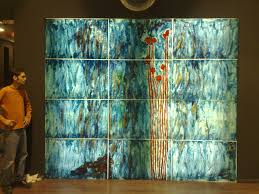 Emery Recycled Glass Spectacular Wall Decoration Vintage Art