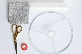 Materials For DIY Rolled Edge Fabric Lampshade