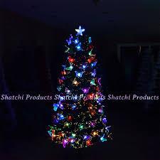 Small Fibre Optic Christmas Trees Uk by Artificial Christmas Tree Elegant Standard Led Fibre Optic Pre Lit