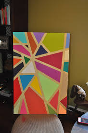 E3 Creations Colorful Geometric Wall Art DIY