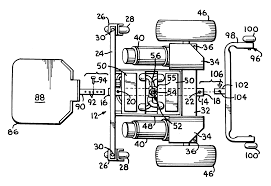Hoveround Power Chair Batteries by Patent Us6290011 Front Wheel Rear Wheel Drive Convertible