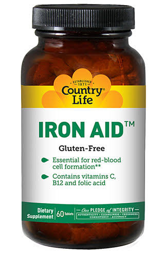 Country Life Iron-Aid Dietary Supplement - 60 Tablets