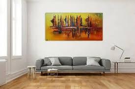 burgstaller nevada skyline abstrakte malerei wohnzimmer