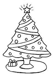 Detail Christmas Tree Coloring Sheets