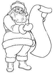 Santa Coloring Pages Printable Free Reading Long Letter Christmas For Preschoolers Full Size