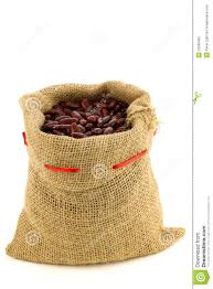 Red Kidney Beans In A Burlap Bag