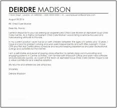 Daycare Cover Letter Examples Child Care Worker Sample Of