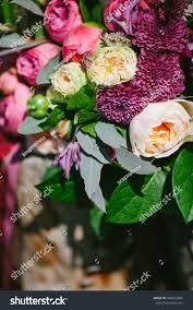 Rustic Style Wedding Bouquet Of Purple Flowers