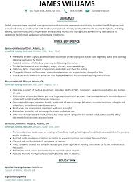Certified Nursing Assistant CNA Resume Example
