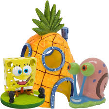 Spongebob Fish Tank Accessories by Penn Plax