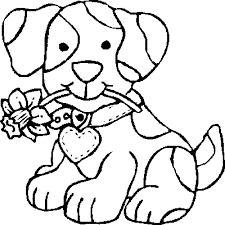 Coloring Pages Dogs Christmas Archives At For Kids