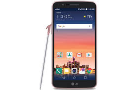 LG Stylo 3 Smartphone with Stylus Pen for Cricket Rose Gold